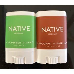 Native Cucumber Mint and Coconut Vanilla Deodorant